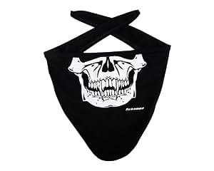 Schampa I-Tie Vampire Skull Stretch Facemask (Black, One Size)