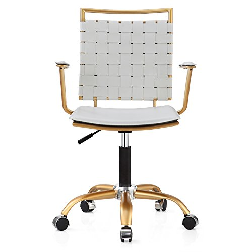 Meelano 356-GD-WHI Office Chair, White/Gold - Buy Online ...