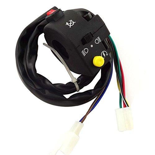 Handle Assembly Switch (TC-Motor 3 Function 7 Wire ATV Left Handle Control Switch Assembly For 50 70cc 90cc 110cc 125cc Kazuma Taotao Sunl Chinese Quad 4 Wheeler)