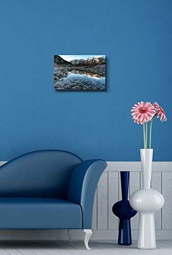 River Side Pool Contains Perfect Mountain Reflect Home Deoration Wall Decor ing