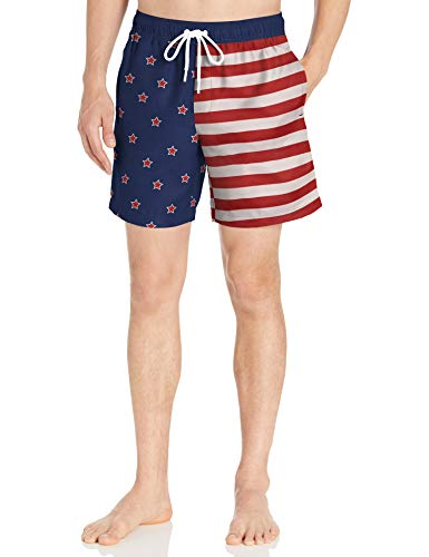 Amazon Essentials Herren Badehose 17,8 cm, Star Print, US L (EU L)