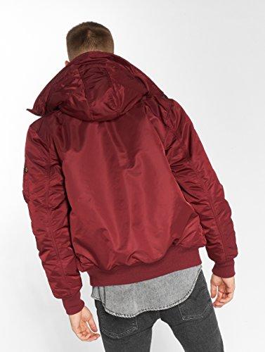 w Hooded Alpha fur Industries o 1 Jacket Rojo MA 7wIrnqIX