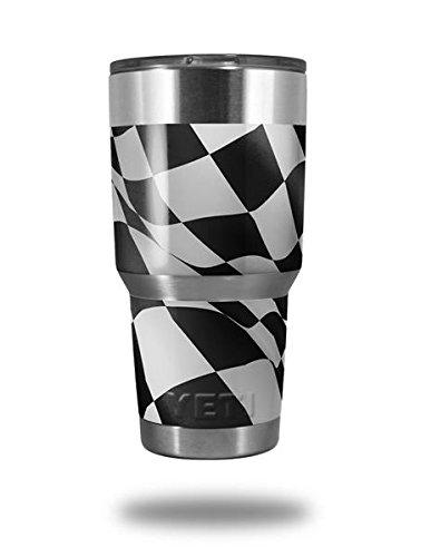 - Skin Decal Wrap for Yeti Tumbler Rambler 30 oz Checkered Racing Flag (TUMBLER NOT INCLUDED)