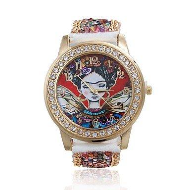 Relojes Hermosos, mujeres / reloj de manera de la señora linda perlas acrílicas especiales de