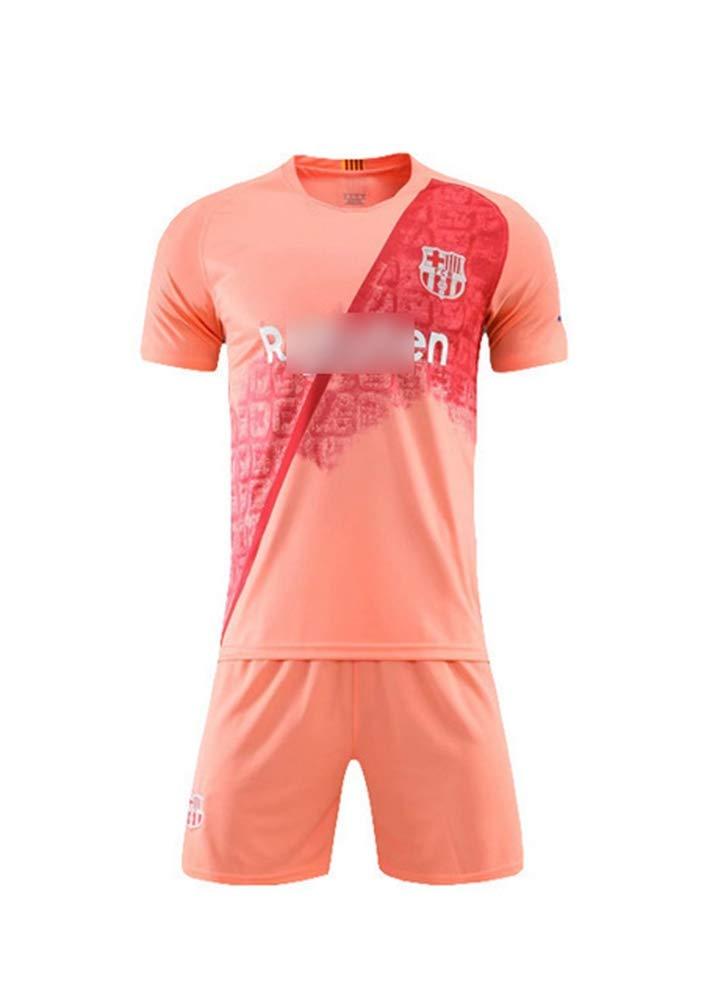 HS-JCWY01 Futbol Club Barcelona# 9 Luis Suarez football T-shirt jersey quick-drying short-sleeved training suit stretch breathable children,2XS140~150CM