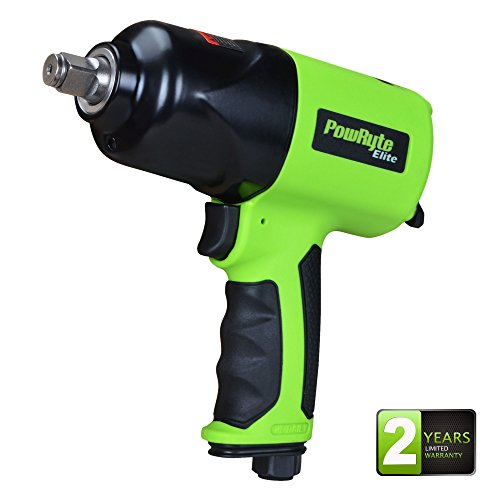 1/2 Composite Impact Wrench - PowRyte Elite 1/2-Inch Air Impact Wrench, 800 ft-lbs, Twin Hammer