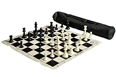 US Chess Federation's Quiver Chess Set Combo - Black
