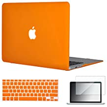 "Easygoby 3in1 Matte Frosted Silky-Smooth Soft-Touch Hard Shell Case Cover for 13-inch MacBook Air 13.3"" (Model:A1369 / A1466) + Keyboard Cover + Screen Protector - Orange"