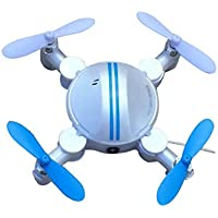 Howley Mini RC Quadcopter 2.4GHz 4CH 6-Axis Gyro 3D UFO Drone FPV WIFI Nano Camera Helicopter (White)