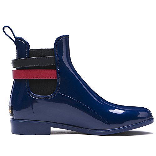 Tongpu Da Donna Stivali Da Pioggia Da Giardino Moda Calzature Impermeabili Blu Marino