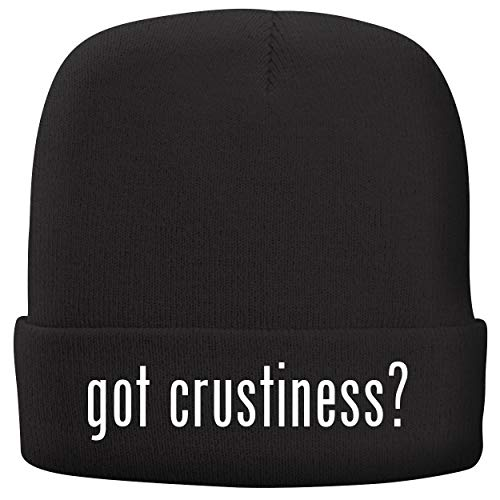 BH Cool Designs got Crustiness? - Adult Comfortable Fleece Lined Beanie, Black -