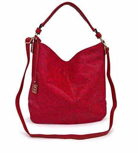 Cremalleras de Rojo Hombro Women's Bolsas Cruzados PU Moda Viajar AgooLar Bolsos fqRZw5t