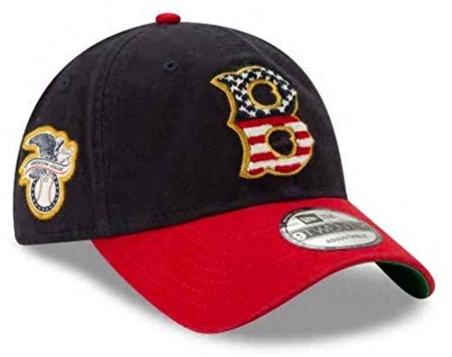 New Era 2019 MLB Boston Red Sox July 4th Flag Logo Baseball Cap Hat 9Twenty 920