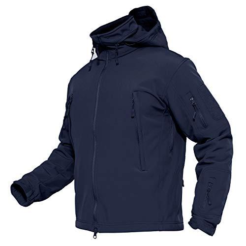 MAGCOMSEN Winter Jackets for Men Warm Jacket Climbing Mountain Jackets Waterproof Rain Jacket Mens Medium Navy Blue