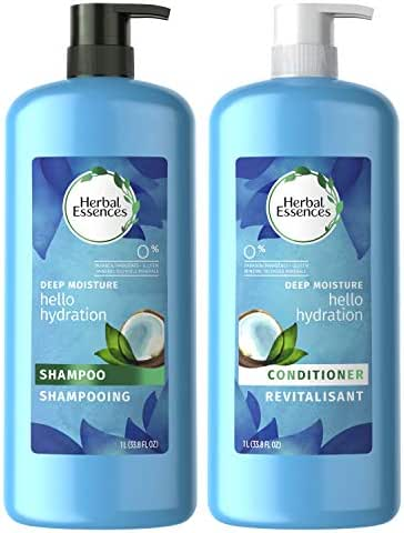 Herbal Essences, Shampoo and Paraben Free Conditioner Kit, Hello Hydration Moisturizing, 33.8 fl oz, Kit