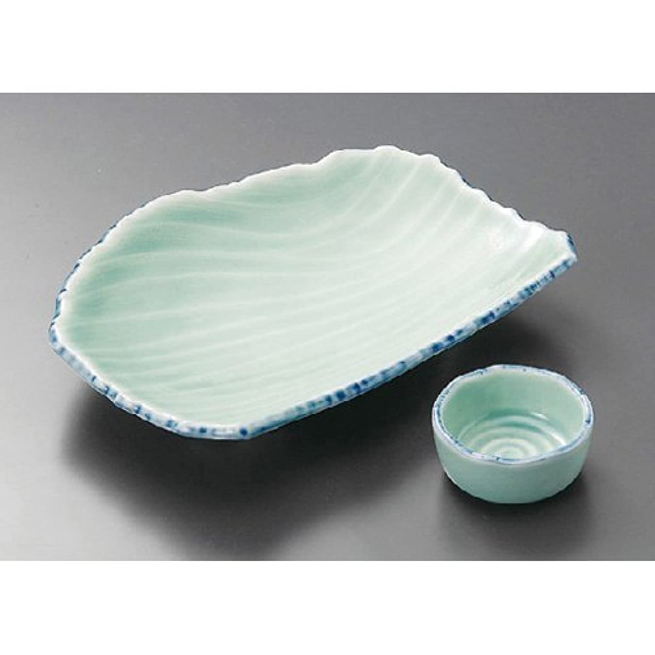 素人イヤホン想定する花あかり 半月皿 小皿 セット 刺身鉢 陶器 美濃焼