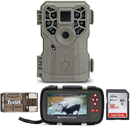 Stealth Cam PX14X P-Series IR Trail Camera with Image and Video Viewer Touch Screen, Compact , Memory Card and Focus USB Reader