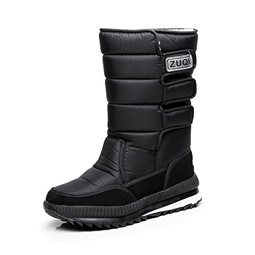 Slip Snow Outdoor Plush Boots CLAKION Warm Black Non Waterproof YxqPZPSA