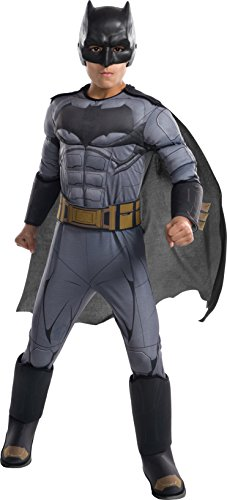 Rubie's Costume Boys Justice League Deluxe Batman Costume, Medium, (Make Halloween Costume Your Own)