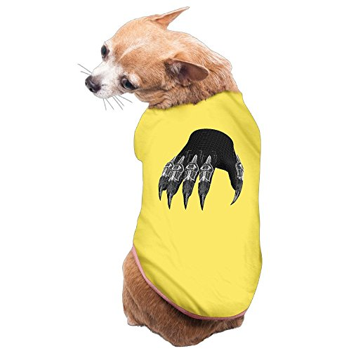[Greenday 3D Printable Claw Cool Doggie Pets Costumes Size L Yellow] (Pug Batman Costume)