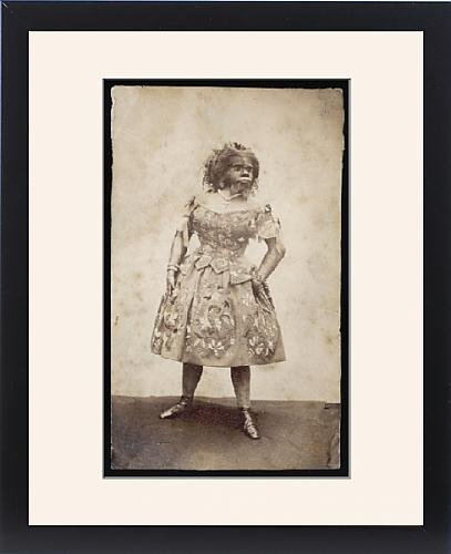 Framed Print of Julia Pastrana from Mexico, hairy woman by Prints Prints Prints