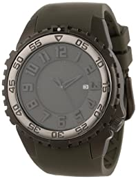 St.Moritz Watch Group Men's 1M-DV64G4G SILVER FOX Analog Dive Watch with 3D Dial and Date Watch