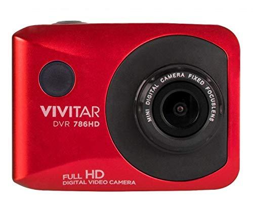 دوربین فیلمبرداری اکشن ضد آب Vivitar DVR786HD 1080p HD دوربین فیلمبرداری (قرمز) با کلاه ایمنی