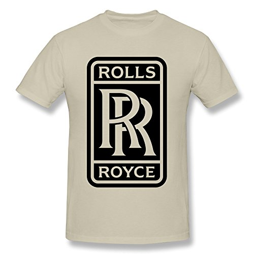 Logo Belly Dance (FZLB Men's Rolls Royce Logo T-Shirt Medium Natural)