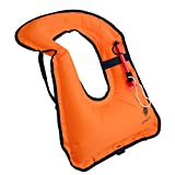 Inflatable Life Vest Jacket with Life Whistle for Snorkeling Swimming Water Boating Kayaking, Free Driving Safty Portable Snorkel Vest for Adults Youth from kilokelvin