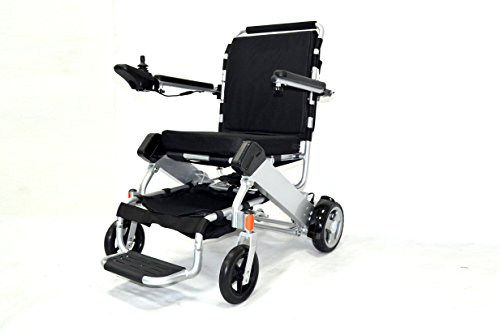Bangeran 2018 New Lightweight 45 lbs only Heavy Duty Supports 300 lbs Aircraft Grade Aluminum Alloy Frame Travel Portable Wheelchair Electric Folding Mobility Aid, Open & Fold Just 1.5 Seconds
