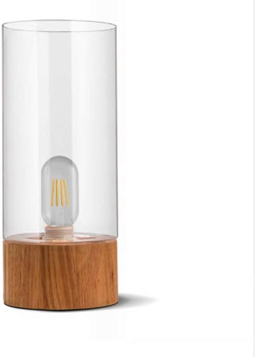 LIUJINHAI Lámpara de Mesa de Madera nórdica lámpara de Mesa de ...