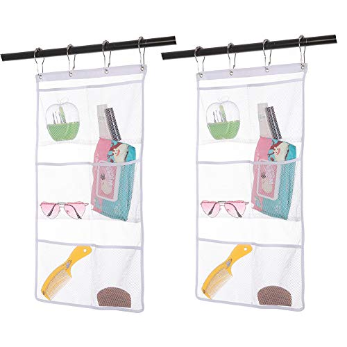 2 pack Hanging Mesh Shower Caddy with 6 pockets