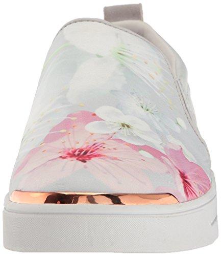 Ted Bakker Dames Tancey Tekst Af Oosters Bloesem Sneaker Witte Bloemen