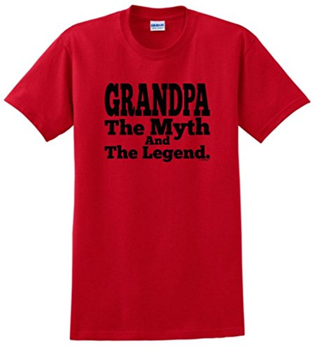 Christmas Gift for Grandpa Grandpa The Myth and The Legend T-Shirt Small Red (Genie Diaper Small)