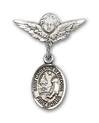 Catherine of Alexandria Pendan DiamondJewelryNY Sterling Silver St
