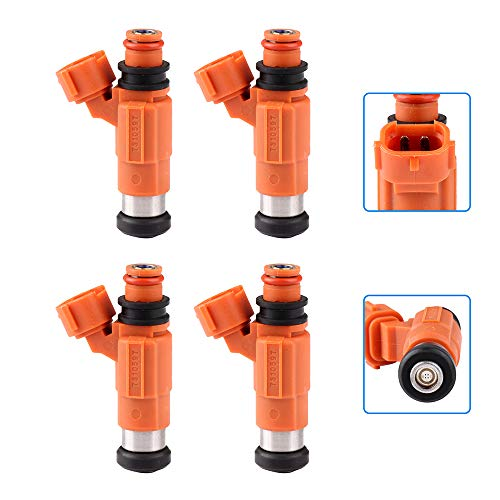 (cciyu Injectors, 4 Holes Fuel Injector Set fit for 1999-2003 Chevy Tracker Mitsubishi Galant/Mirage/Suzuki Vitara,2001-2005 Chrysler Sebring/Dodge Stratus/Mitsubishi Eclipse CDH210,4 Pieces)