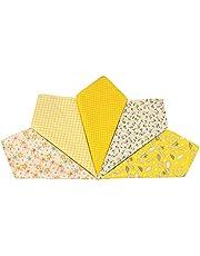 XQWLP 5 Unids Moda Cuadrado Pañuelo de celosía de algodón para hombres El regalo de Año Nuevo Colorido para las mujeres Hombres Damas Accesorios diarios