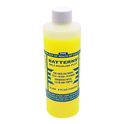 Batterns Self Pickling Flux Hard Soldering Gold Silver Platinum 8oz Jewelers New by Batterns