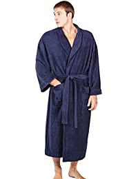 Texere Men's Terry Cloth Long Bathrobe - Luxury Soft...
