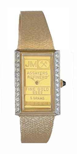 Johnson Matthey ''One of a Kind'' 14K Gold 5 Gram Ingot Ladies Watch With .50 ct Diamonds by RICH (Image #1)