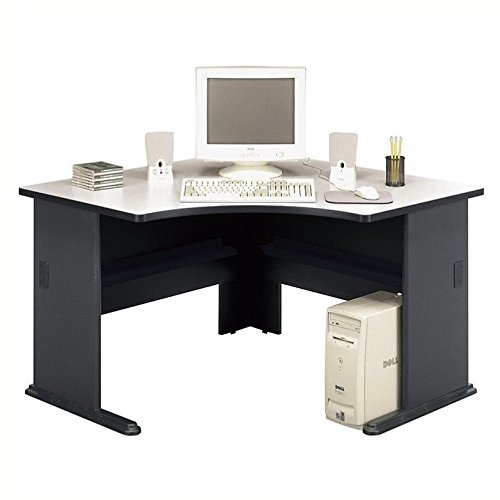 Bush Business Furniture Series A 48W Corner Desk in Slate and White Spectrum by Bush Business Furniture