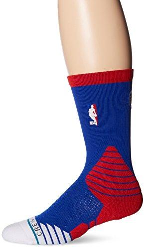 go Crew 76ers Sock, Blue, Medium {6-8.5} (Nba Logo Socks)