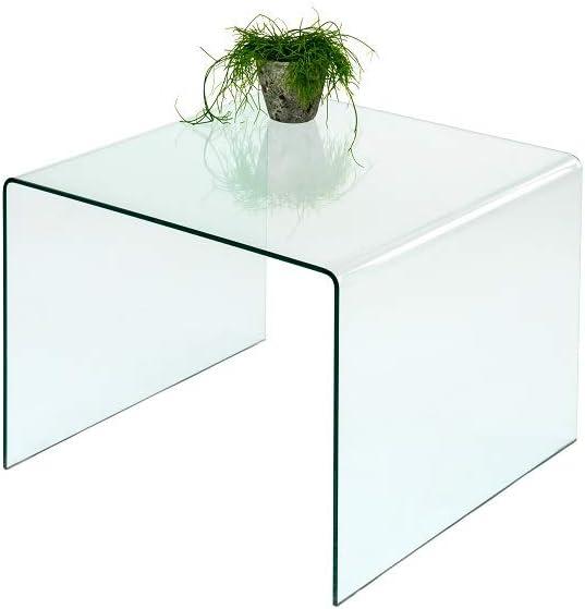 Concept Cristal (86) Mesa Auxiliar Mesa de Cristal Mesa 60 x 60 cm Curved Cristal de Seguridad: Amazon.es: Juguetes y juegos
