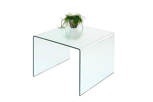 Concept Cristal (86) Mesa Auxiliar Mesa de Cristal Mesa 60 x 60 cm ...