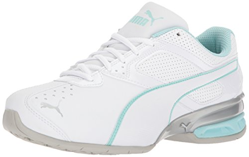 PUMA Women's Tazon 6 Wide Wn Sneaker, White-Island Paradise Silver, 5.5 W US Review