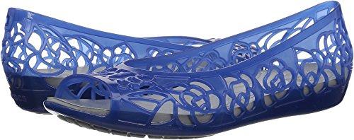 Croc Peep Toe - Crocs Women's Isabella Jelly Ballet Flat, Blue Jean, 9 M US