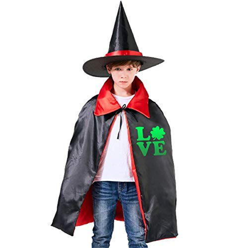 St Patricks Day Guitar - Wodehous Adonis St Patricks Day Love Irish Shamrock Grils Boys Women Halloween Costumes Cloak And Wizard Hat For Holiday Cosplay Party