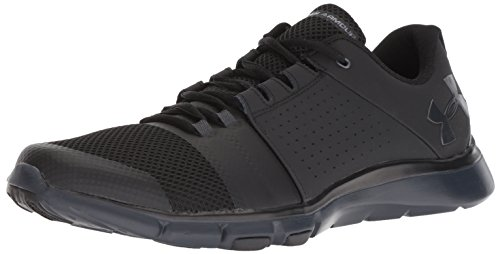002 Black Gray Under Armour Strive Men's Stealth Sneaker 7 wxYzq
