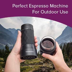Mixpresso Manual Operated Mini Portable Espresso Maker, Compact Travel Coffee Maker,Compatible with Nespresso Pods, Mini Espresso Machine