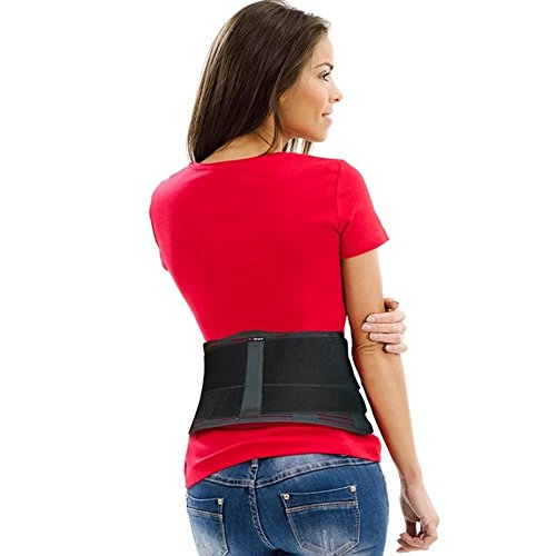 Lower Back Brace by AidBrace - Fast Lower Back Pain Relief for Herniated Disc, Sciatica, and Scoliosis for Men & Women - Includes Removable Lumbar Pad (Small/Medium)